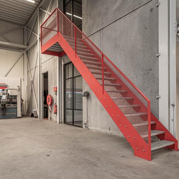 Stalen trap werkplaats